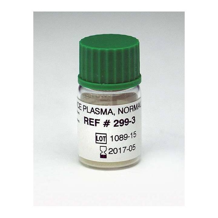 P/N 299-3 vW Reference Normal Plasma 1ml